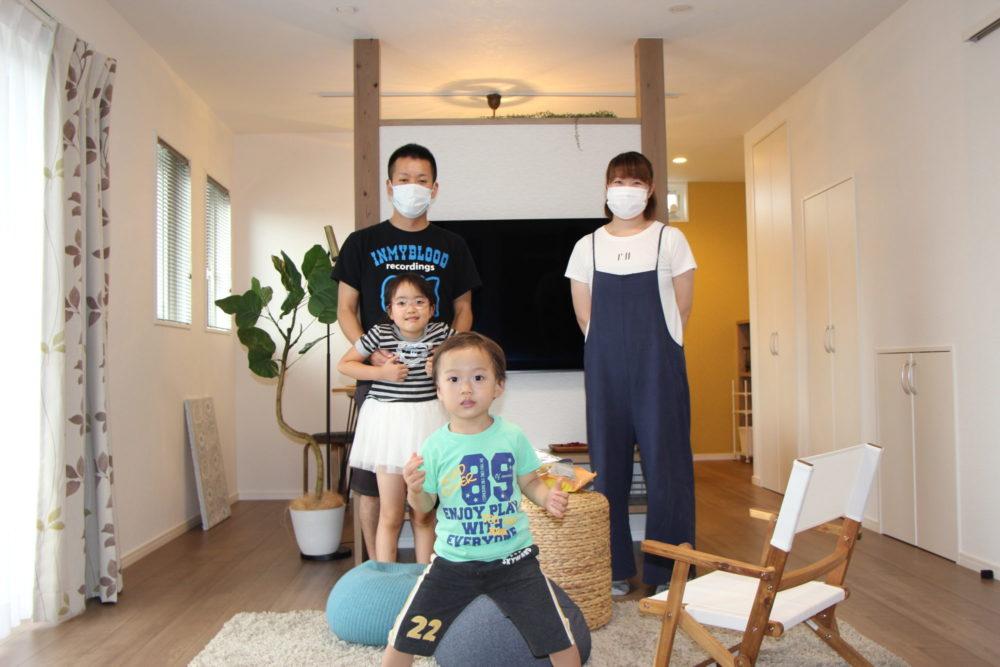 下妻市 新築 狭小の土地に4人家族のこだわった注文住宅建てました!