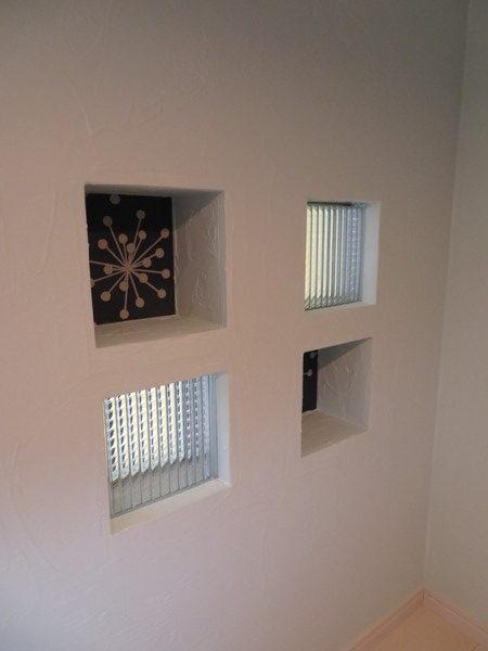 ロフト梯子&ガラスブロック